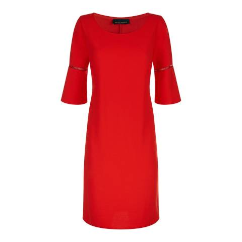 James Lakeland Red Anita Pleat Sleeve Dress