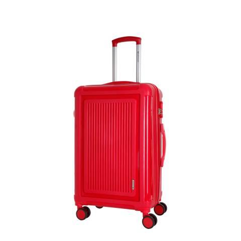 Platinium Red 8 Wheel Unbreakable Torquay Suitcase 50cm