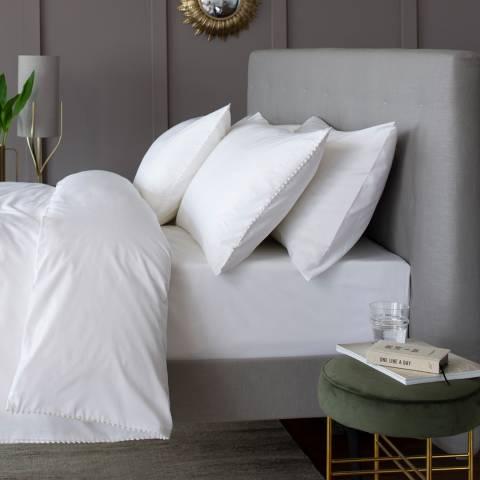 The Lyndon Company Pom Pom Double Duvet Cover Set, White