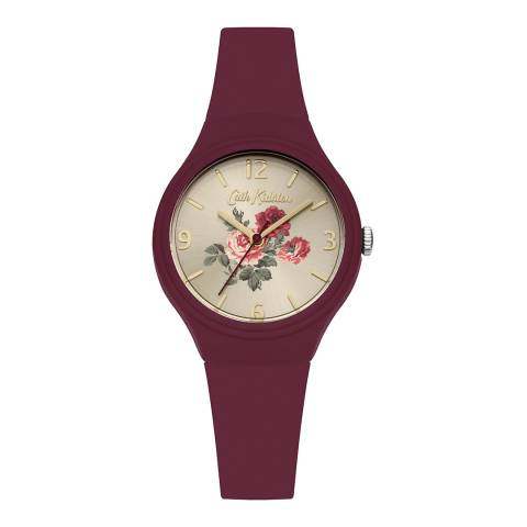 Cath Kidston Purple Antique Rose Silicone Watch