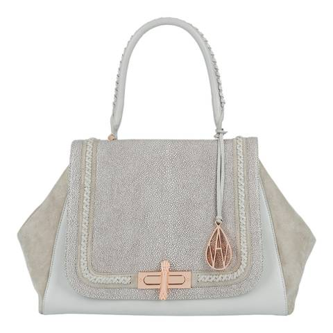 Amanda Wakeley Mineral Stingray Cagney Braid Leather/Suede Bag