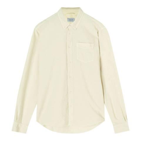 Jigsaw Cream Cotton Button Down Shirt