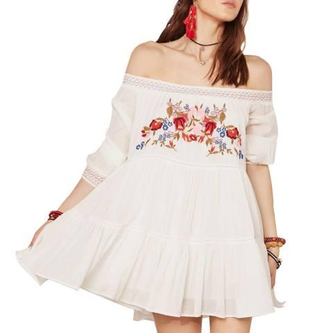 Free People Cream Sunbeams Mini Dress