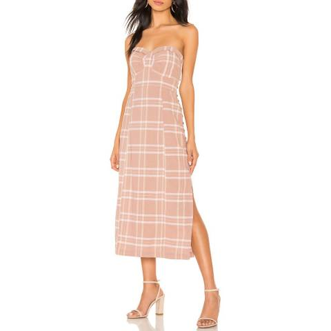 Free People Beige Life Like This Plaid Dress