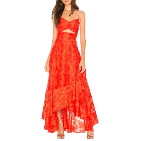 Free People Red Buona Sera Maxi Dress