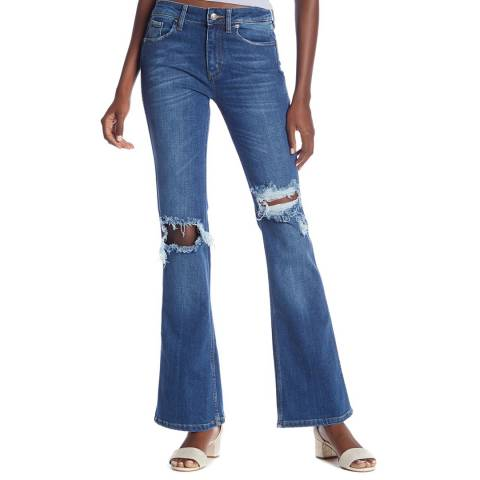 Free People Blue Authentic Flared Jeans