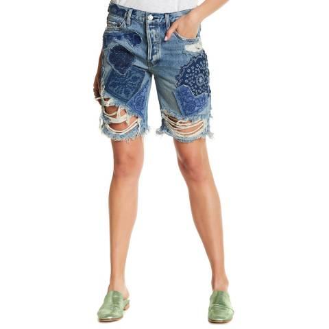 Free People Blue Heart Breaker Denim Shorts