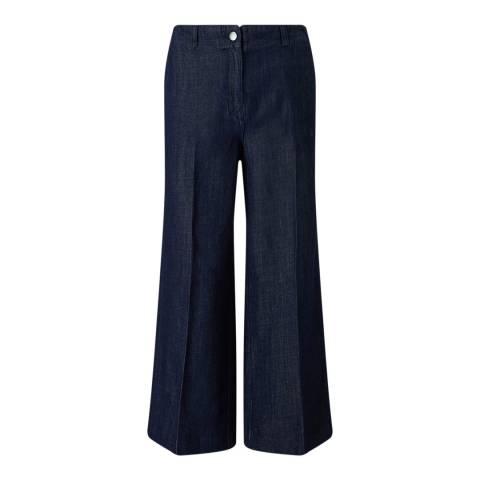 Jigsaw Indigo Crop Wide Leg Jean