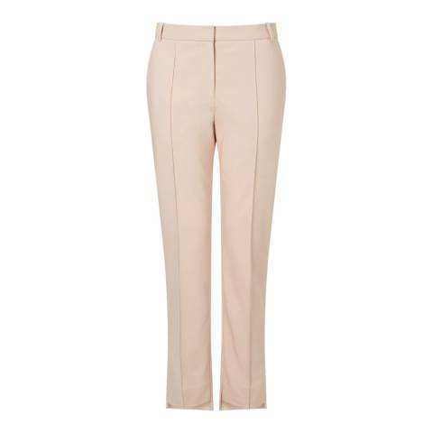 Jigsaw Light Pink Stepped Hem Trouser