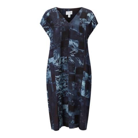 Jigsaw Dark Blue Montage Dress