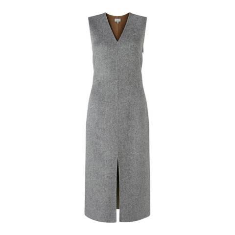 Jigsaw Grey V-Neck Dress