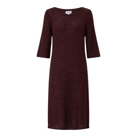 Jigsaw Dark Red Sparkle Dress