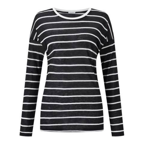 Jigsaw Black Stripe Slim T-Shirt