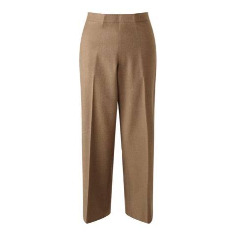 Jigsaw Camel Wool Crop Trouser
