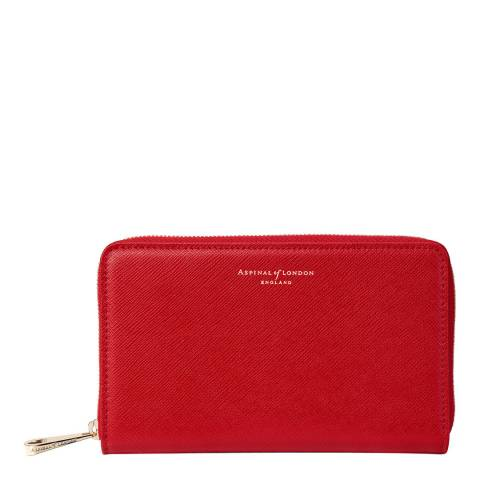 Aspinal of London Scarlet Carrera Continental Midi Wallet