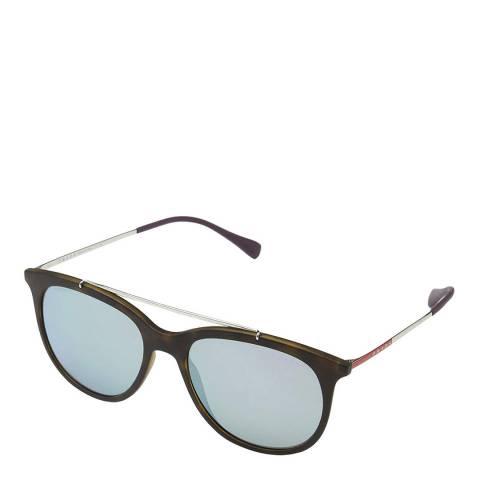 Prada Womens Brown Prada Round Sunglasses 54mm