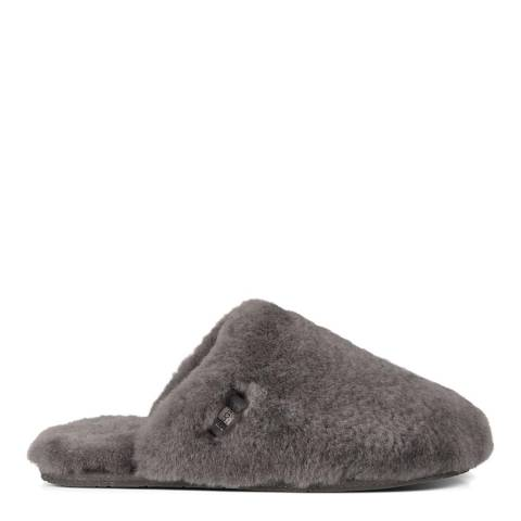 UGG Grey Fluff Clog Slipper