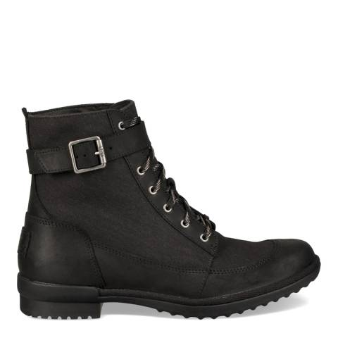 UGG Black Tulane Lace Up Hiker-Biker Boot