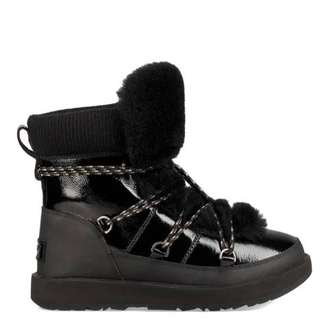 UGG Black Highland Gloss Waterproof Classic Boot