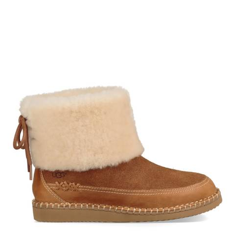 UGG Chestnut Quinlin Fluff Classic Bootie