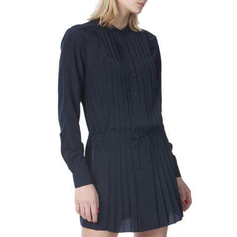 N°· Eleven Navy Pleat Detail Tunic