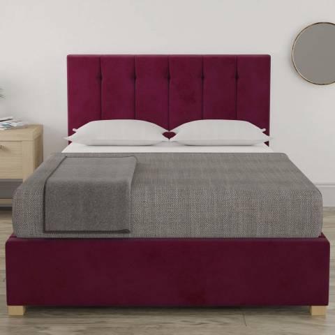 Aspire Furniture Pimlico Small Double Bedframe - Plush Velvet Berry