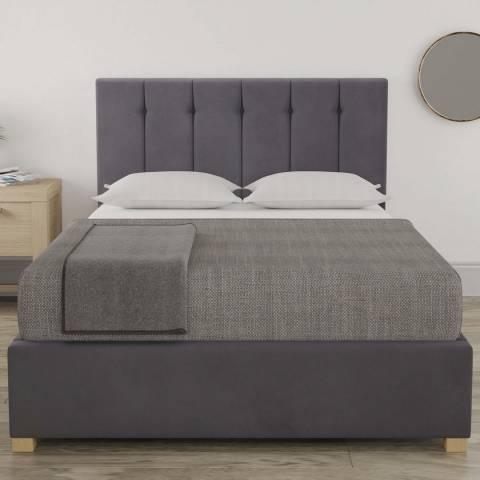 Aspire Furniture Pimlico Small Double Bedframe - Plush Velvet Steel
