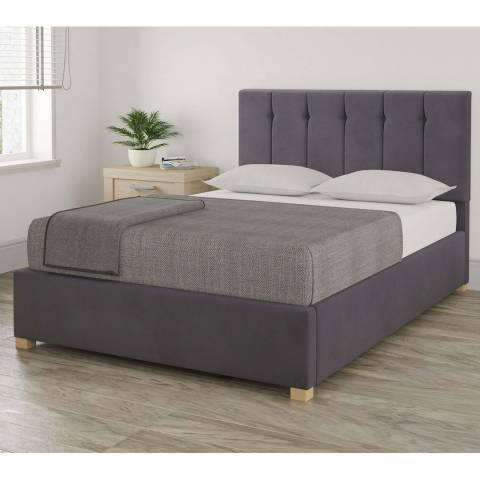 Aspire Furniture Pimlico Steel Double Plush Velvet Ottoman Bed