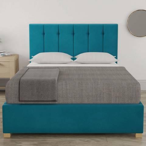 Aspire Furniture Pimlico Small Double Bedframe - Plush Velvet Teal