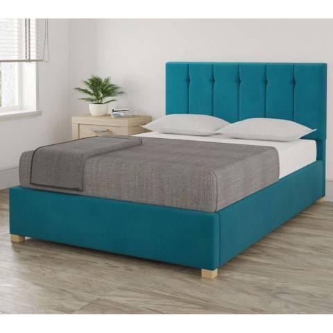 Aspire Furniture Pimlico Double Bedframe - Plush Velvet Teal