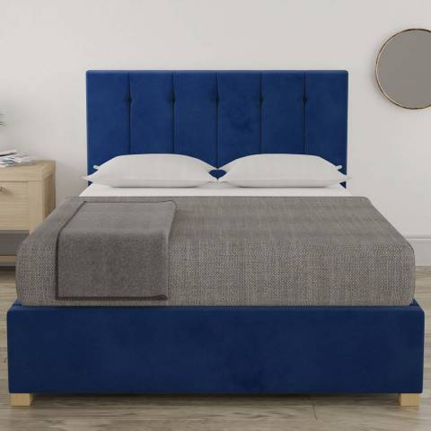 Aspire Furniture Pimlico Small Double Bedframe - Plush Velvet Navy