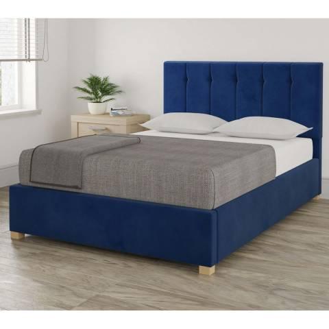 Aspire Furniture Pimlico Double Bedframe - Plush Velvet Navy