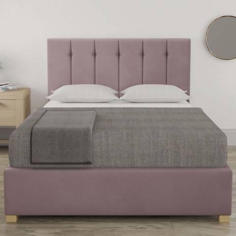 Aspire Furniture Pimlico Small Double Bedframe - Plush Velvet Blush