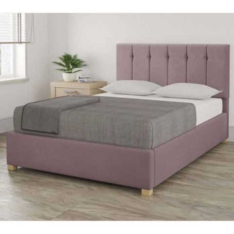 Aspire Furniture Pimlico Blush King Plush Velvet Ottoman Bed
