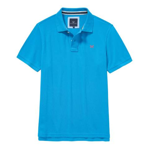 Crew Clothing Blue Classic Pique Polo