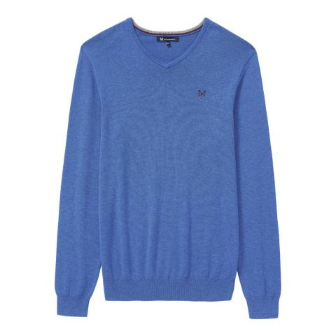 Crew Clothing Blue Foxley V Neck