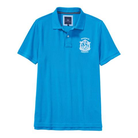 Crew Clothing Blue Crested Polo