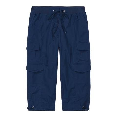 Crew Clothing Navy Wentworth Cropped Trousers