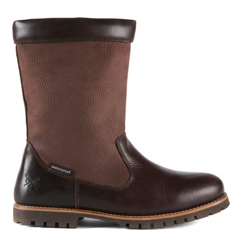 Crew Clothing Chocolate Hendon Waterproof Boot