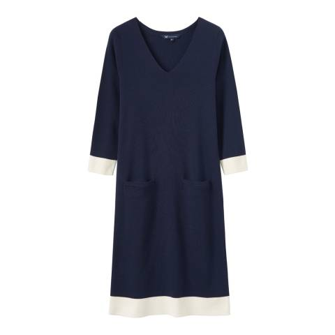 Crew Clothing Navy Day Mermilano Dress