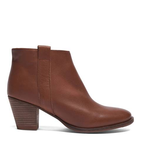 Crew Clothing Tan Leather Isabelle Boot