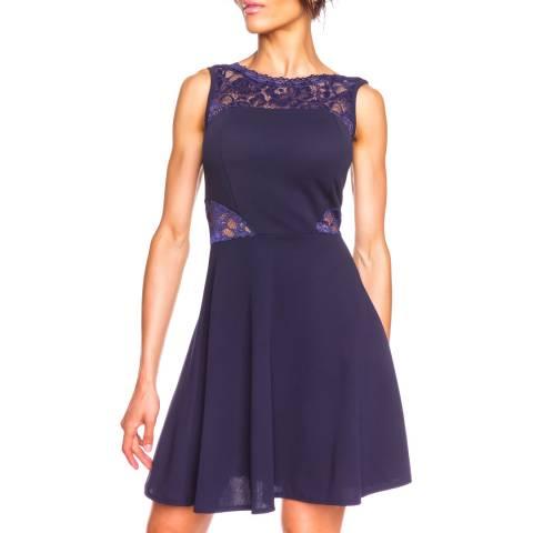Comptoir Des Parisiennes Navy Lace Sleeveless Dress