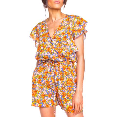 Comptoir Des Parisiennes Orange/Multi Missya Playsuit