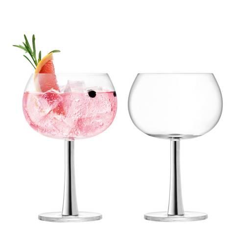 LSA Platinum Gin Balloon Glasses, 420ml