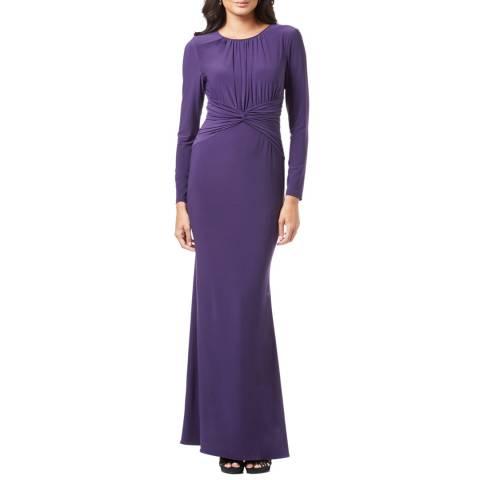 Adrianna Papell Aubergine Long Jersey Dress
