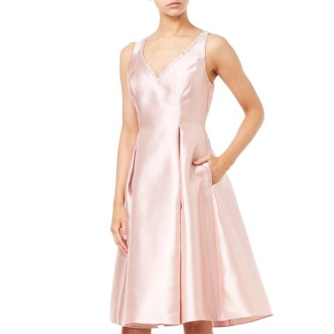 Adrianna Papell Blush Sleeveless Short Dress