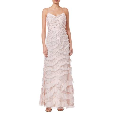 Aidan Mattox Blush All Over Embroidered Gown