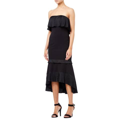 Aidan Mattox Black Strapless High Low Dress