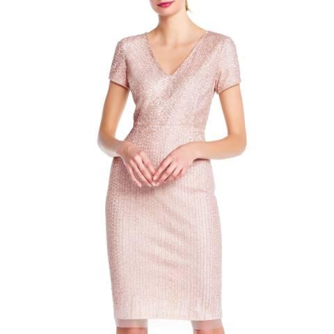 Adrianna Papell Shell Beaded Short Dress