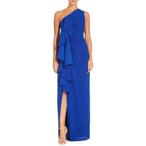 Aidan Mattox Royal Sapphire Draped Gown